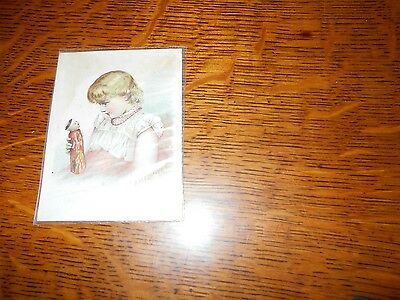 MCLAUGHLIN'S XXXX COFFEE trade card or advertising card, girl & Japanese doll
