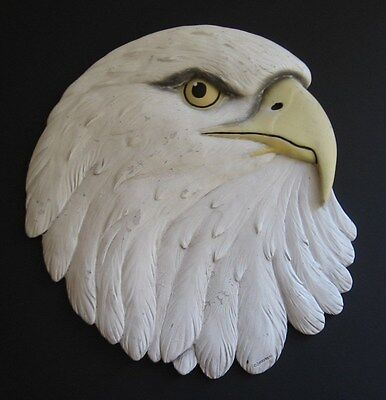 """American Eagle Wall Hanger Spoontiques 10"""" Bald Decoration Eyes"""