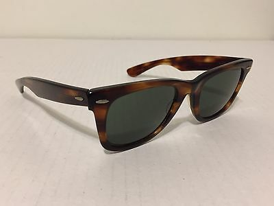 Vintage 1980s B&L Ray Ban Brown Tortoise Sunglasses Large 5022 Made In USA