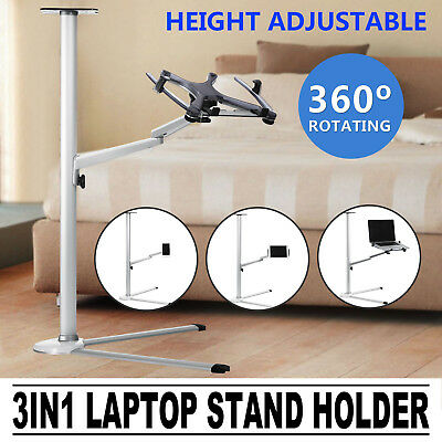 3In1 Laptop Stand Holder Folding Arms For Tablet Ipad Adjustable Monitor Desk