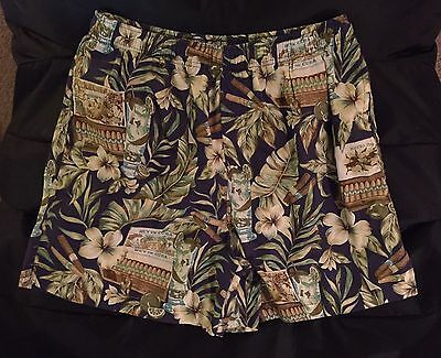 Men's Tropical Cigars Swim Trunks by Roundtree & Yorke, Size: Large