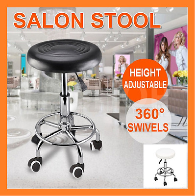 Salon Stool Hairdressing Barber Chair Beauty Swivel PU Equipment Hydraulic Lift