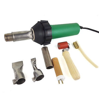 220v/110v 1600w Plastic Welder Gun + flat nozzle heat element Hot Air GunUS Plug