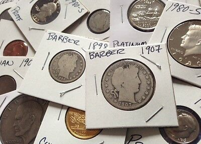 $$US Silver Barber Half Dollar Dimes Liberty Proof Coin Collection Estate Lot $$