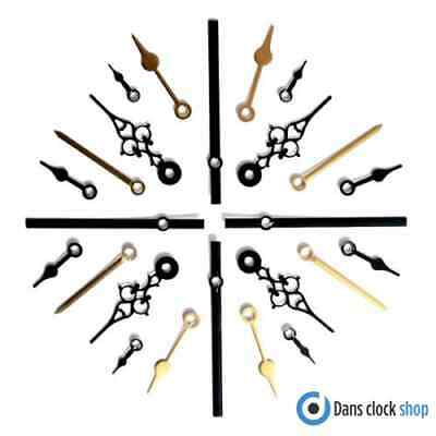 5 Pack Metal Clock Hands For Quartz Clock Movements Press Fit Sizes 24 - 130mm