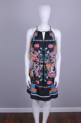CLOVER CANYON $238 CLASSICAL ORDER MIDI CREPE DRESS  XSMALL  XS