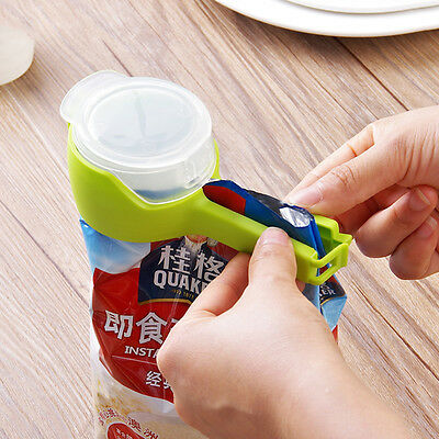 Seal Pour Food Storage Bag Clip Food Sealing Clip Effect Clamp With Large Nozzle