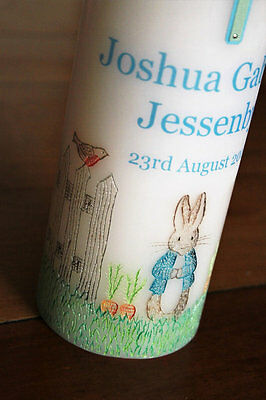 Baptism Christening Naming Day Candle PETER RABBIT