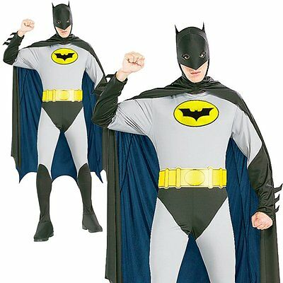Batman Super Hero Mens Adult Halloween Stag Party Outfit Fancy Dress Up Costume