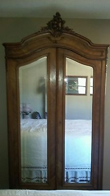 Antique Louis XV French Walnut Armoire
