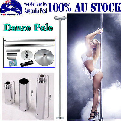 Pole Portable Exercise Spinning Home Gym Dancing Fitness + 2Pcs Extensions Set M