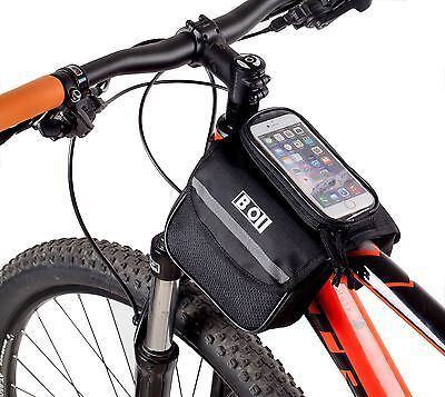 BOI Cycling Bike Pouch Frame Pannier Saddle Front Tube Cellphone Double Side Bag