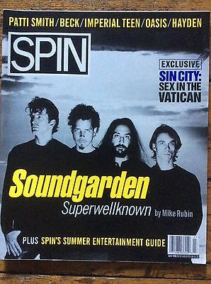 Spin Magazine July 1996 Soundgarden cover, Patti Smith, Imperial Teen, Hayden