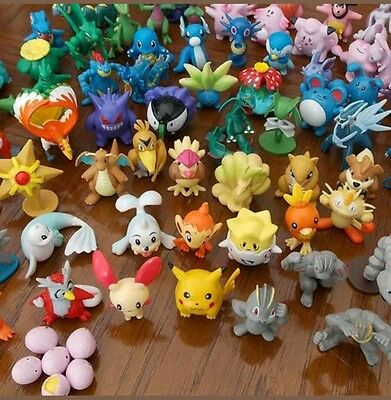100pcs Set Mixed Bundle Lot Pokemon Character Figures Gift Squirtle Pikachu Toy