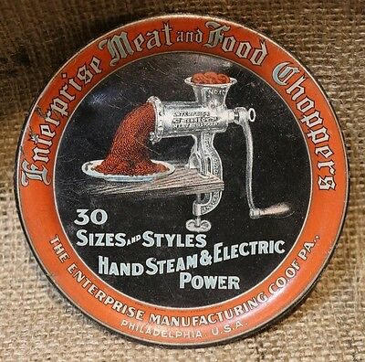 Antique Advertising Tip Tray-Enterprise Meat and Food Choppers-Philly, Pa