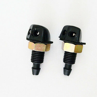 2Pcs set Universal Windscreen Washer Jet Water Spray Nozzle Fit Vehicle Cars New