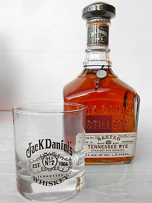 Jack Daniels Rested Tennessee Rye Whiskey 750ml 80 Proof With Bonus Glass!!
