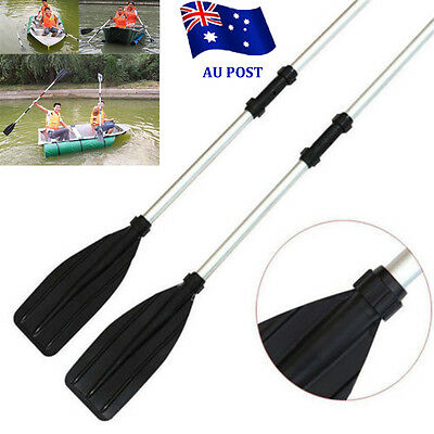 2PCS 133cm Aluminum Detachable Float Afloat Oars Paddles Boat Kayak Raft Canoe B