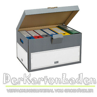 10 Archiv Transportcontainer SELECT 530 x 380 x 285 mm Archivkartons Kartons