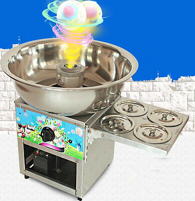CE Fancy art stainless steel Commercial gas cotton candy machine Free shipping