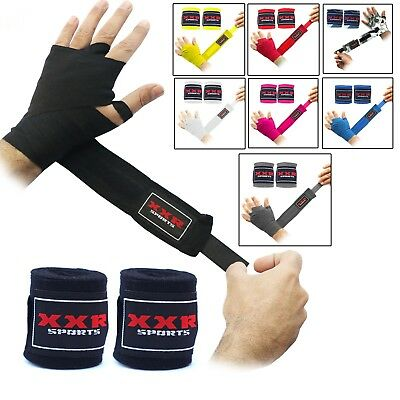 2Fit Hand Wraps Bandages Fist Boxing Gloves MMA Wrist Palm Punch Bag White 4mm