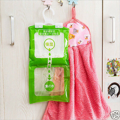 Bedroom Bathroom Hanging Dry Bag Moisture Absorbent Dehumidizer Desiccant Newly