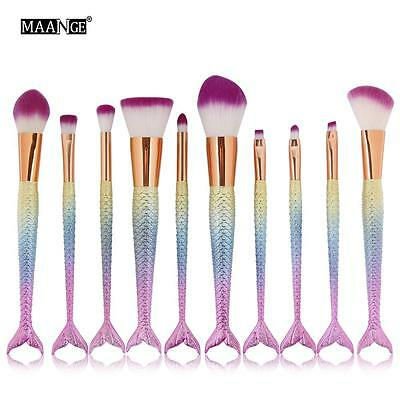 NEW Mermaid Brush Set Foundation Eyeshadow Brushes Cosmetic Makeup Brushes Tool
