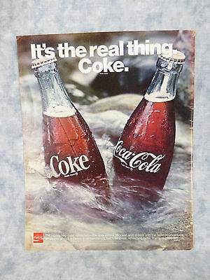 It's The Real Thing. Coke. 13.25 x 10.5 inch Full Page Color 1970 Advertisement