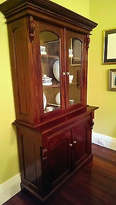 Mahogany Victorian Style Bookcase or Dresser