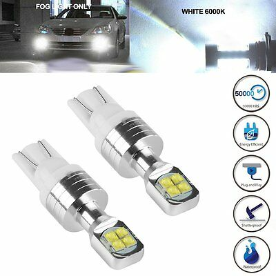 2 x T10 194 168 W5W 2525 8-SMD LED White 6000K 80W Super Bright Car Lights Bulbs