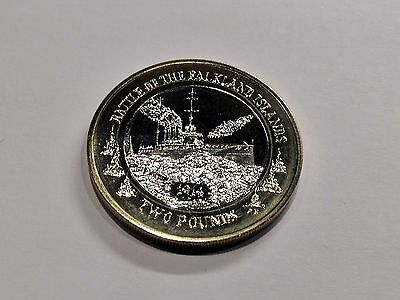 Falkland Islands 2014 Battle of Falkland Island Two Pound Coin £2 BU