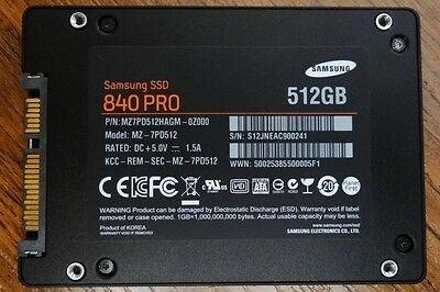 Samsung 840 Pro MZ-7PD512 512GB 2.5 Internal Solid State Drive
