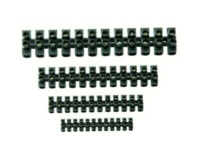 12 WAY CONNECTOR STRIPS 3 5 10 15 30 60 Amp CHOC BLOCK TERMINAL ELECTRICAL BLACK