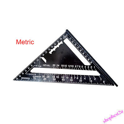 "Quick Roofing Rafter Triangle Ruler Guide7""Aluminum Alloy Black Square Wholesale"