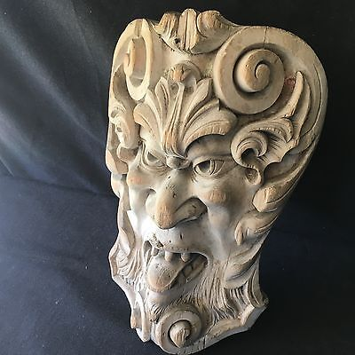 Antique carved lime wood 'Green man' Early 19th century carving.