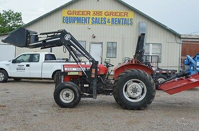 Massey Ferguson 253 diesel tractor with front end loader