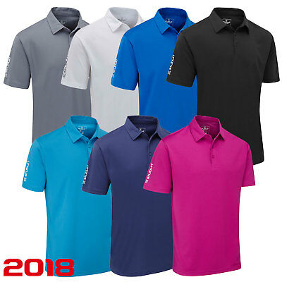 Stuburt New 2017  Sport Tech  Plain Golf Polo Shirt