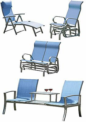 Garden Patio Furniture Chairs Sun Lounger Glider Poolside Rocking Chairs