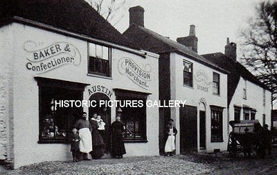 Austin Family Bakers Shop Eastry Kent 1887 Vintage Mounted Print Ancestry