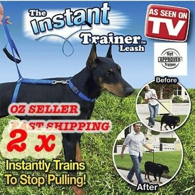 2 x New Instant Trainer Leash As Seen On TV over 30 lbs.Dogs walking training h