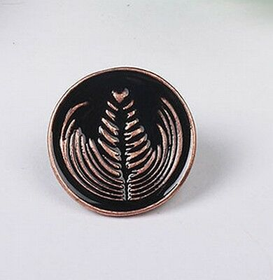 Bronze Barista Cafe Geek Lover Coffee Latte Art Rosetta Pin Brooch Badge Gift