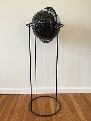 Artline Millennium Edition Modern Acrylic Globe World Map Metal Base Floor Stand