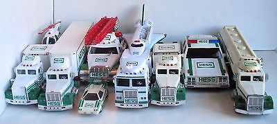 Huge Loose Lot of Vintage Hess Truck Vehicles Trucks Helicopter Space Shuttle+