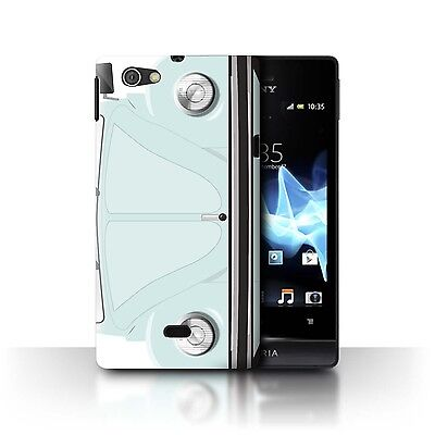 Case/Cover Sony Xperia Miro/ST23I / Retro Beetle / Arctic White