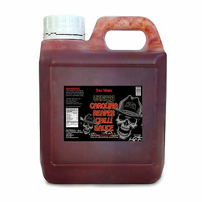 Chilli Sauce - Venom Carolina Reaper Superhot Sauce - NEW 1ltr Catering Size