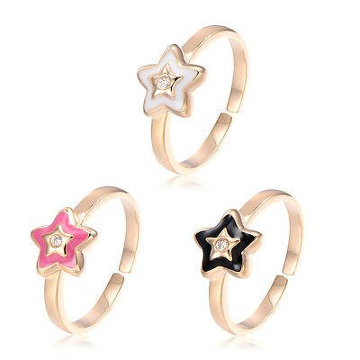 Womens Girls Childrens Teen Baby Star Ring Size 3+ Crystal Parental jewelry