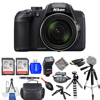 Nikon COOLPIX B700 20.2MP Digital Camera W/ 60x Optical Zoom - Mega Bundle New!!