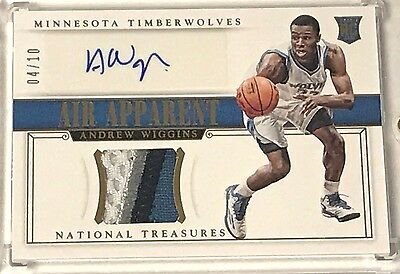 2014-15 National Treasures Andrew Wiggins Rookie Patch Autograph RC RPA 04/10 NT
