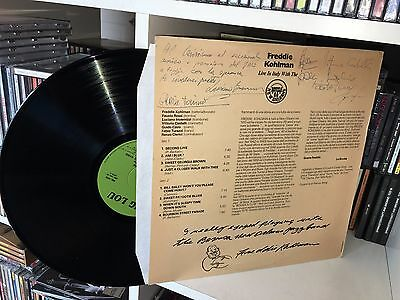 Freddie Kohlman Live In Italy With The Bovisa New Orleans Jazz Band LP 1973