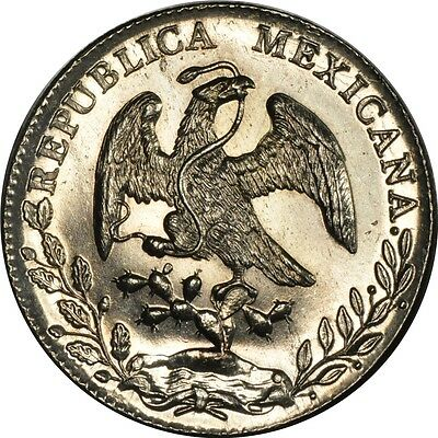 1898 Mo AB  Mexico 8 Reals  CHOICE UNC PROOFLIKE